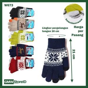 W673 Sarung Tangan Pria Kaos Bisa Touchscreen Men Gloves Premium B10