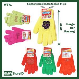 W671 Sarung Tangan Wanita Warna Warni Dewasa Hiasan Cantik Gloves B08