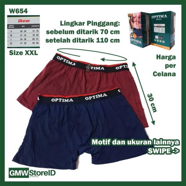 Boxer CD Pria Optima M L XL XXL Celana Dalam Laki-Laki Karet Men I12