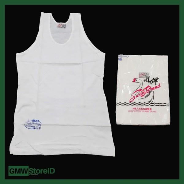 Singlet Pria SH Swan Brand Atasan Laki-Laki Dalaman Putih Size 34 W372