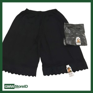 Androk Celana Kulot Hitam Pakaian Dalam Wanita Katun Cin-Cin XL W342