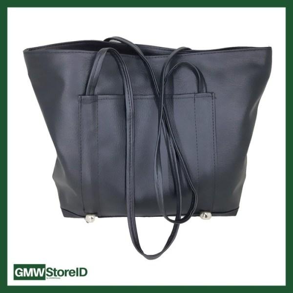 Tas Hand Bag Polos Abu-Abu dan Hitam W238