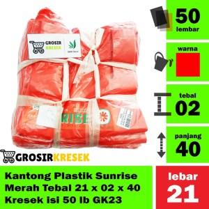 Kantong Plastik Sunrise Merah Tebal 21 x 02 x 40 Kresek isi 50 lb GK23