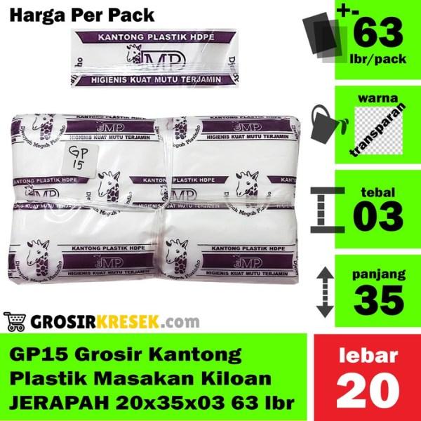 GP15 Grosir Kantong Plastik Masakan Kiloan JERAPAH 20x35x03 63 lbr