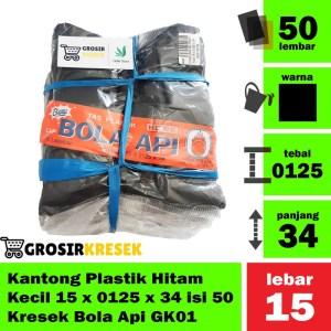 Kantong Plastik Kresrek Hitam Kecil HDPE uk 15 x 0125 x 34