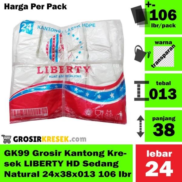GK99 Grosir Kantong Kresek LIBERTY HD Sedang Natural 24x38x013 106 lbr