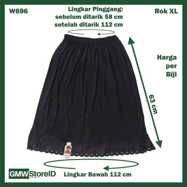 Androk Rok Hitam Pakaian Dalam Wanita Ladies Underwear Cin-Cin XL W696