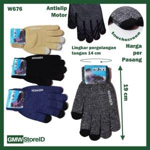 W676 Sarung Tangan Pria Men Premium Gloves Tebal Bahan Antislip B11