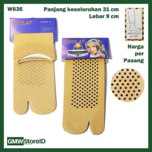 W636 Kaos Kaki Wanita Women Ankle Socks Pendek Jempol Antislip E24