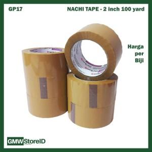 GP17 Grosir Lakban Isolasi Coklat Plester NACHI TAPE 2 inch 100 yard