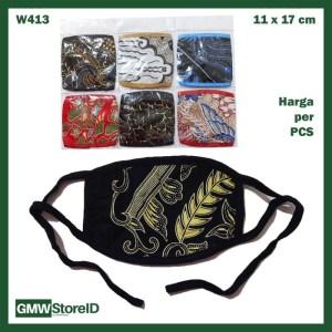 W413 Masker Mulut Motor Tipe D02 - Universal Pria Wanita Murah Motif