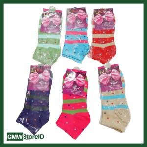 W409 Kaos Kaki Wanita Casual Pendek Tipe E08 - Women Sock Murah Motif