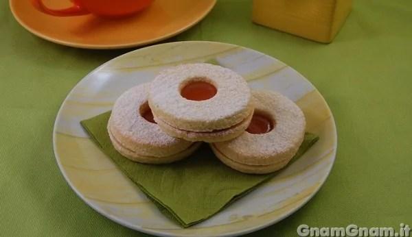 Biscotti occhio di bue  La ricetta di Gnam Gnam