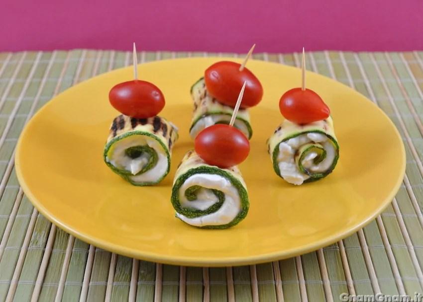 Involtini di zucchine e tonno  La ricetta di Gnam Gnam