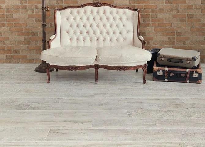 Piastrelle effetto legno Serie Vintage Savoia Bianco 20x120 cm