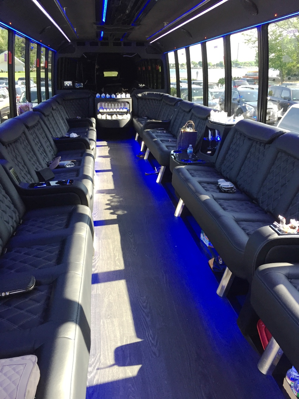 New Mega Party Bus With Bathroom Boston MA - Do charter buses have bathrooms