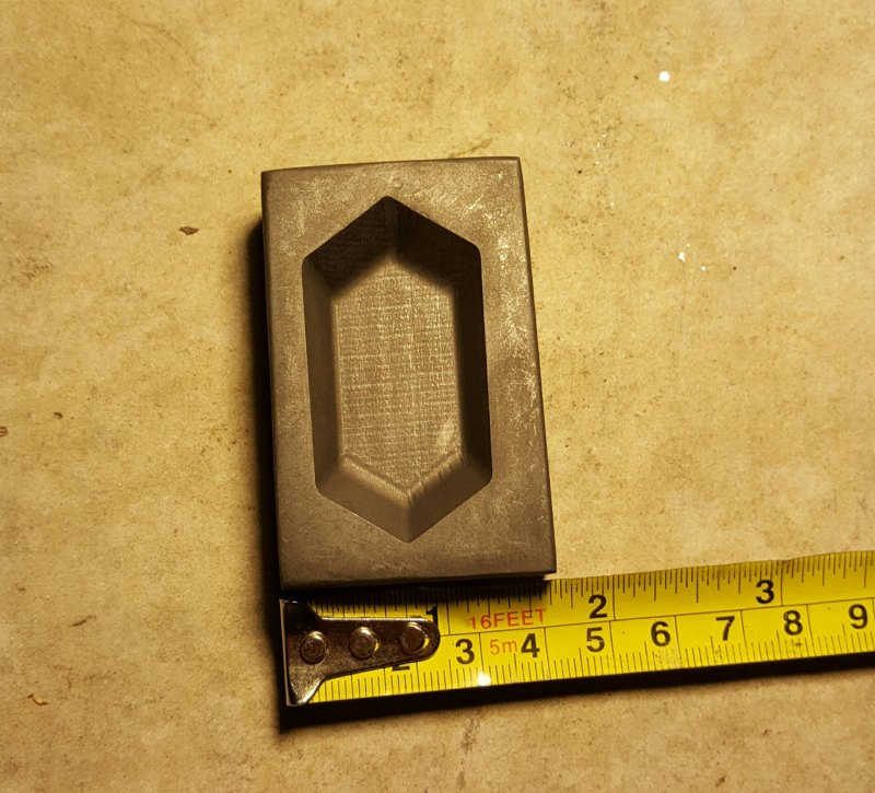 This is our Graphite Rupee Mold