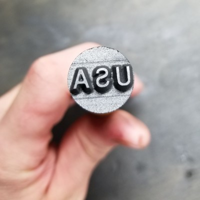 This is our Graphite USA Text Stamp