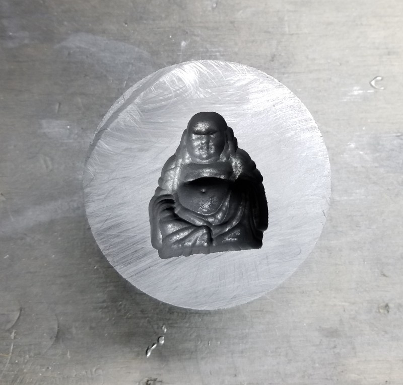 This is our Graphite Buddha Mold