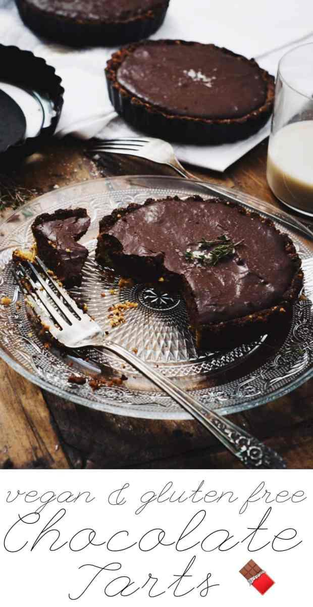 Vegan & Gluten Free Salted Chocolate Tarts ?