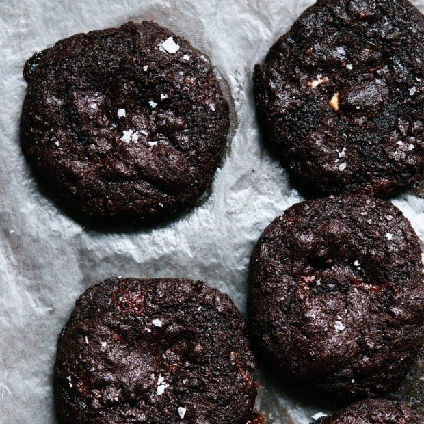 Mexican Gluten Free Triple Chocolate Chip Cookies With Sea Salt