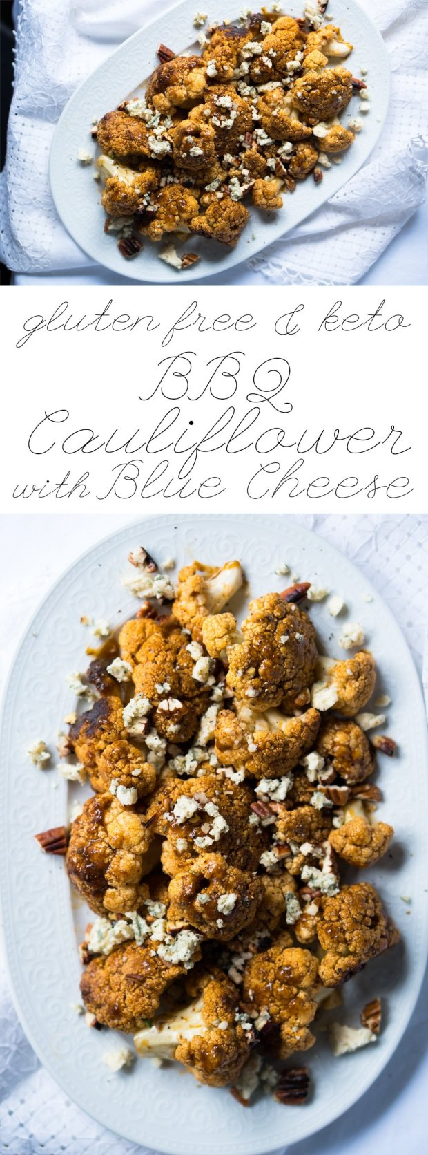 BBQ Cauliflower with Creamy Blue Cheese ? Gluten Free & Ketogenic