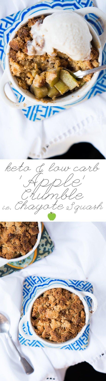Gluten Free & Keto Apple Crumble (i.e. Chayote Crumble) 🍏