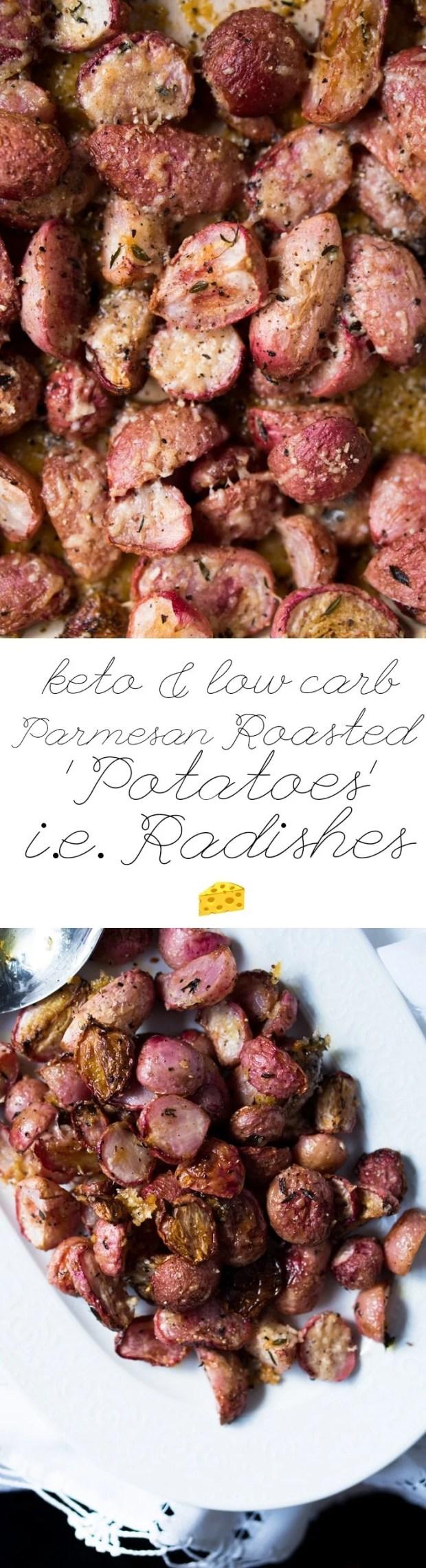 Low Carb & Keto Roasted Radishes; i.e.'Potatoes' 🧀
