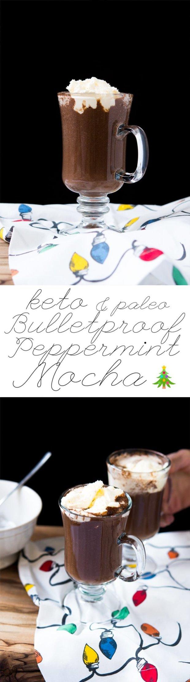 Paleo & Keto Bulletproof Peppermint Mocha 🎄Thick, Creamy and just 2g net carbs! #ketopeppermintmocha #bpc