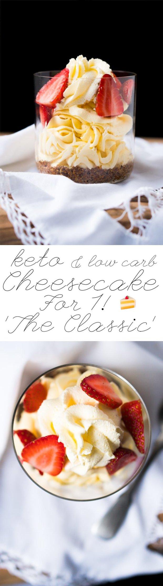 No-Bake Keto Cheesecake For 1! 🍰The Classic #ketocheesecake #lowcarbcheesecake