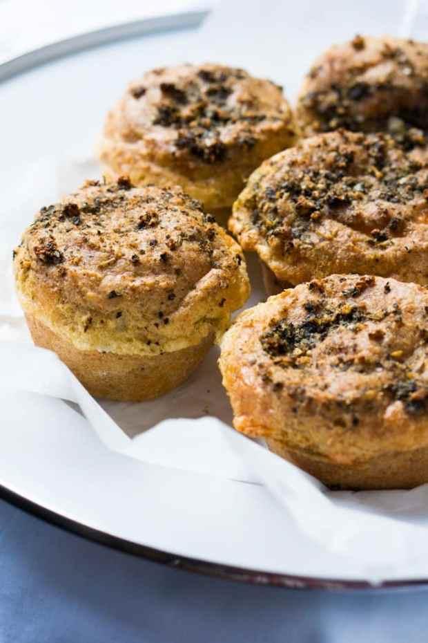 Suuuper Cheesy Gluten Free & Keto Garlic Bread Muffins 🧀 #ketobread #lowcarbbread