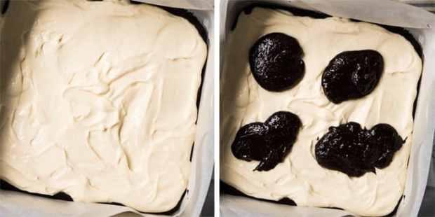 Gluten Free, Low Carb & Keto Cheesecake Brownies 🍫 Just 1.5g net carbs! #keto #ketodessert #lowcarb #brownies #glutenfree #chocolate #cheesecake #healthyrecipes