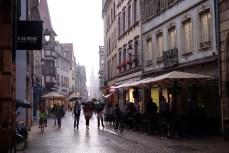 Rain in Strasbourg. (Photo by Garrett LeSage.)
