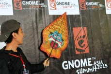 Participant poster with Gunungan