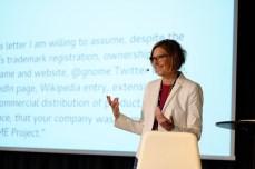 Pamela Chestek during Keynote (Photo by Garrett LeSage.)