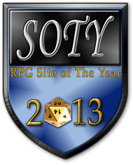 Please vote for Gnome Stew in the 2013 RPG Site of the Year Awards (Today only)