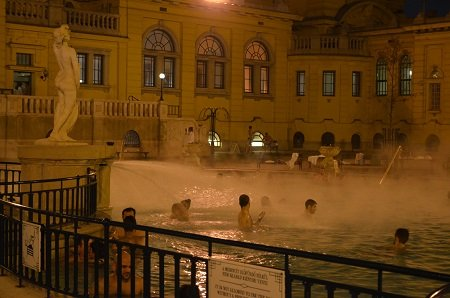 Széchenyi Thermal Bath in Budapest, Hungary