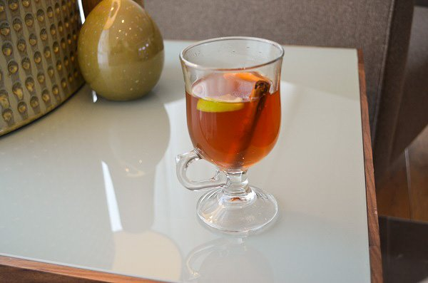 Warm up with a warm glass of mulled wine.