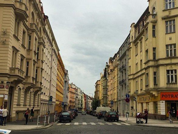 Prague residential neighborhood
