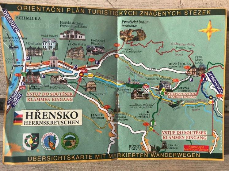 bohemian switzerland map