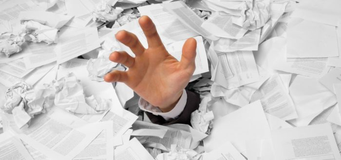 Burocracia, papelería