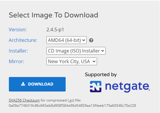 download-pfsense-installer-image