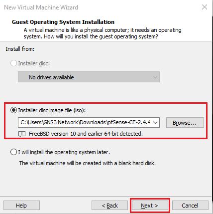 selecting-pfsense-installer-image