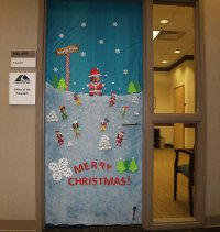 Christmas Door Decoration Competition turns GNTC's Floyd ...