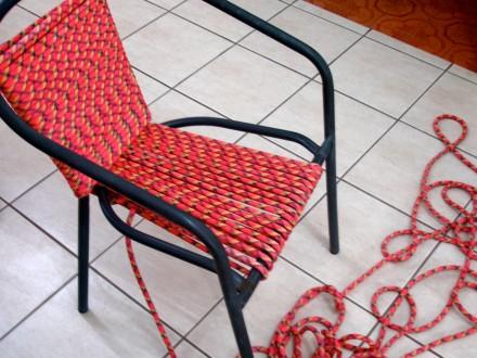 تجديد الكرسى القديم بالخيوط