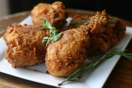 الدجاج المُقرمش في الفرن