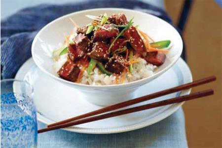 أرز مع اللحم