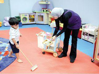 مشاركة الطفل فى أعمال المنزل تعطيه ثقة فى نفسه
