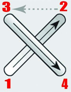 طريقة تنفيذ الغرزة المتقاطعة فى الكنفا Cross Stitch