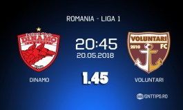 Ponturi Fotbal  - Dinamo - Voluntari - Liga 1 - 23.05.2018